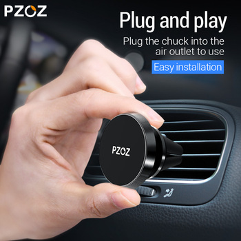PZOZ Magnetic car phone holder Air Vent Mount Magnetic Holder for phone in car Universal stand CellPhone car for iphone holder 1
