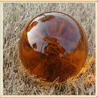 100mm Amber Festival Party Crystal Ball Feng Shui Glass Figurines Sphere Magic Asian Decoration Home Quartz Ball