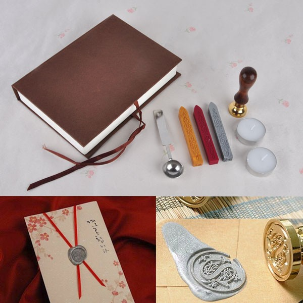 Classic Vintage Wax Seal Stamp + Sealing Wax Stick Letters words Gift Boxed Set Wedding Costom/Greetings Envelope Seal creative wax envelope set literary romantic gift confession artifact the new year wedding gift