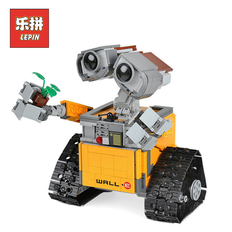 Lepin Technic Movie 16003 Idea Robot WALL E set DIY Model Building Blocks Bricks Classic Children Educational Toys Gift 21303 diy model building kits robot puzzle desktop toys assembled learning educational toy children bricks assembling classic gift