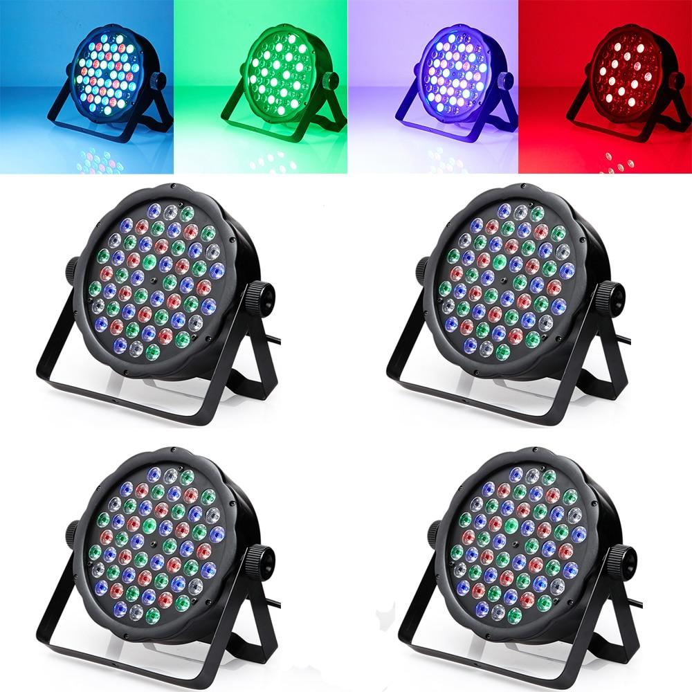 4PCS DMX 54 Lampu RGBW LED Par Light Untuk Disco Parti DJ LED Projektor Peringkat Strobe Lighting Effect