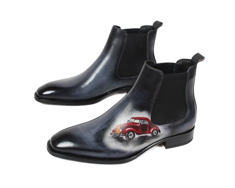 Mega Sale VIKEDUO Autumn New Fashion Ankle Boots Men Genuine