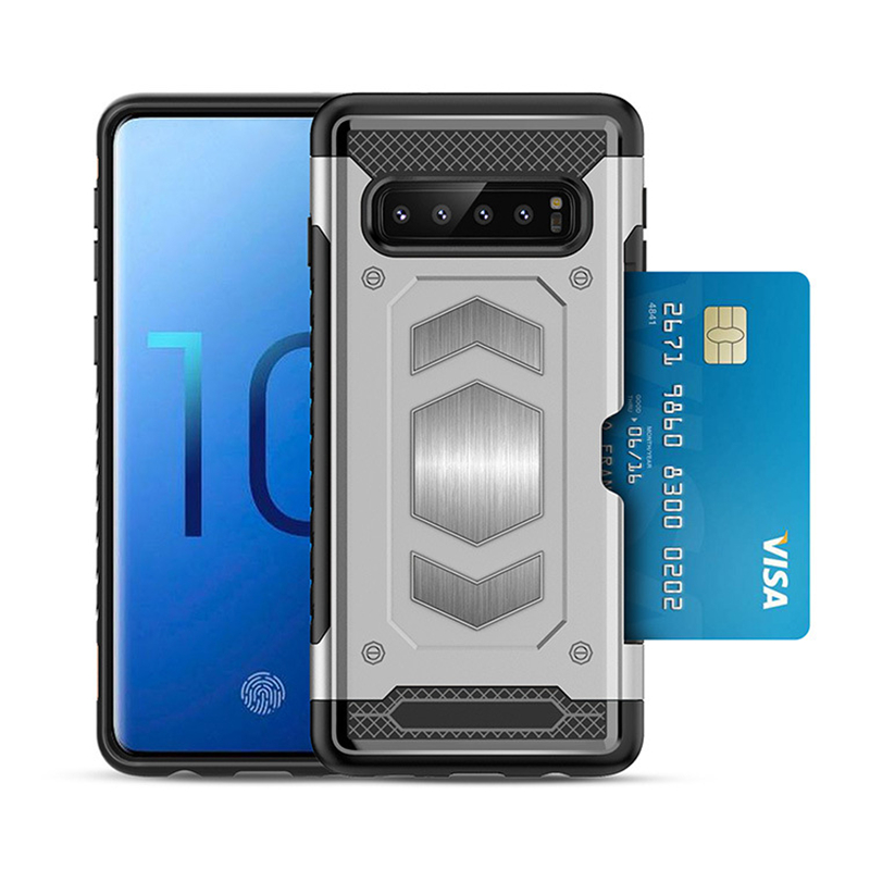 For Samsung Galaxy S10 Plus Luxury Shockproof Hybrid TPU Hard PC Armor Case For Galaxy S10 Lite Wallet Mobile Accessories Coque