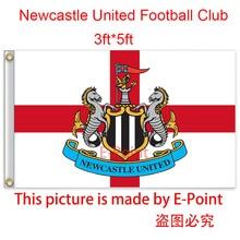 England Newcastle United FC decoration Flag B 3ft*5ft (150cm*90cm)