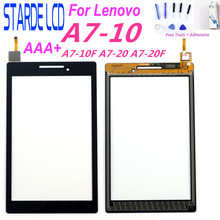 цена на Starde 7 Touchscreen For Lenovo Tab 2 A7-10 A7-10F A7-20 A7-20F Touch Screen Sensor Tablet PC Replacement For A7-10 Digitizer