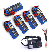 VHO 5pcs Syma 7 4V 2000mah Lipoly Battery UL Charger Spare Part For X8 X8A X8C