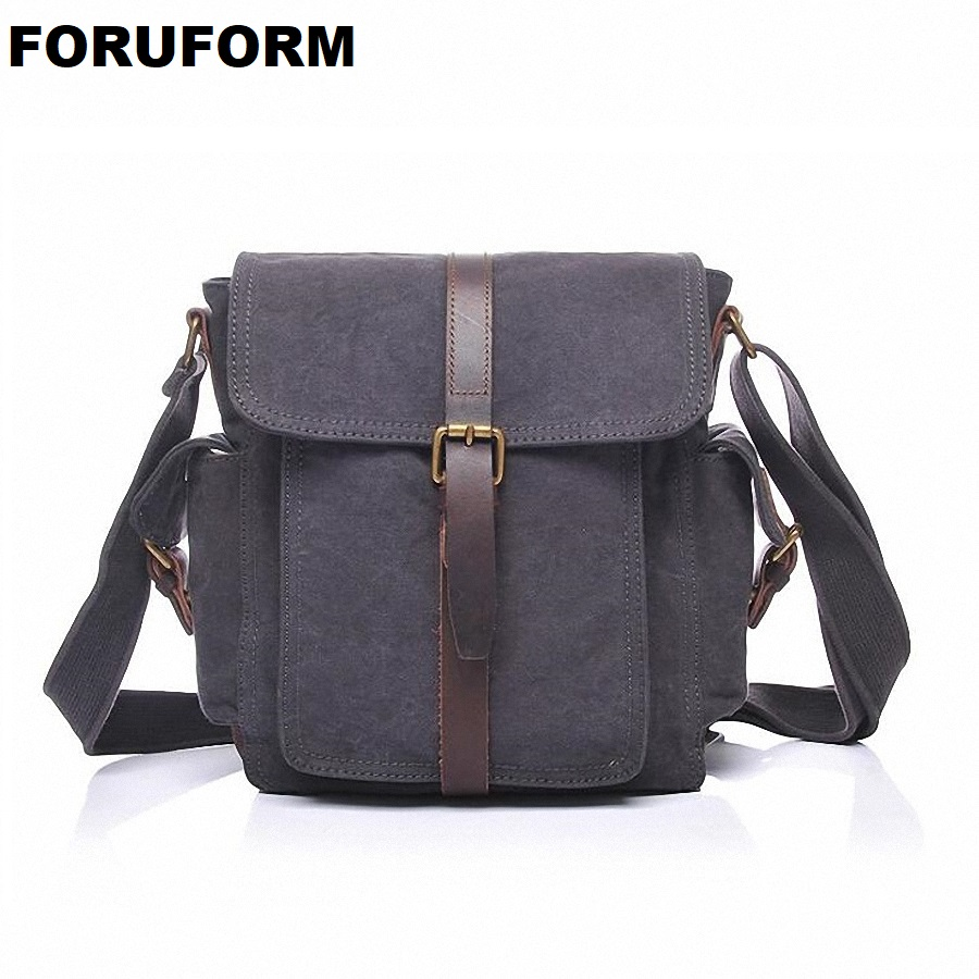 Men Bags Vinatge Canvas Messenger Bags 2018 Designer Women Men's Fashion Casual Travel Crossbody Shoulder Bag Solid Male LI-2055