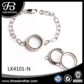 Women Fashion Jewelry Bangle 25mm Round Living Memory Locket DIY Lovely Silver Screw Crystal Floating Charm Bracelets