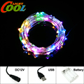 LED String DC12V / USB 5V / Battery Box Copper Wire LED Lighting Strings.