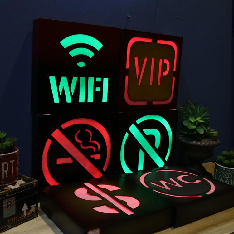 No Fumar LED Neon Signos WC Envío Wifi Placa de Luz Para El ...