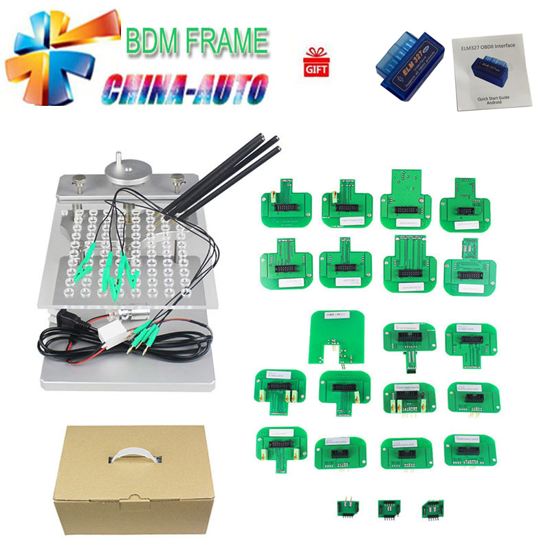 DHL free 2018 Newest BDM FRAME with Full Set Adapters for Fgtech BDM100 programmer JFIND stainless steel with 22pcs Adapters цена