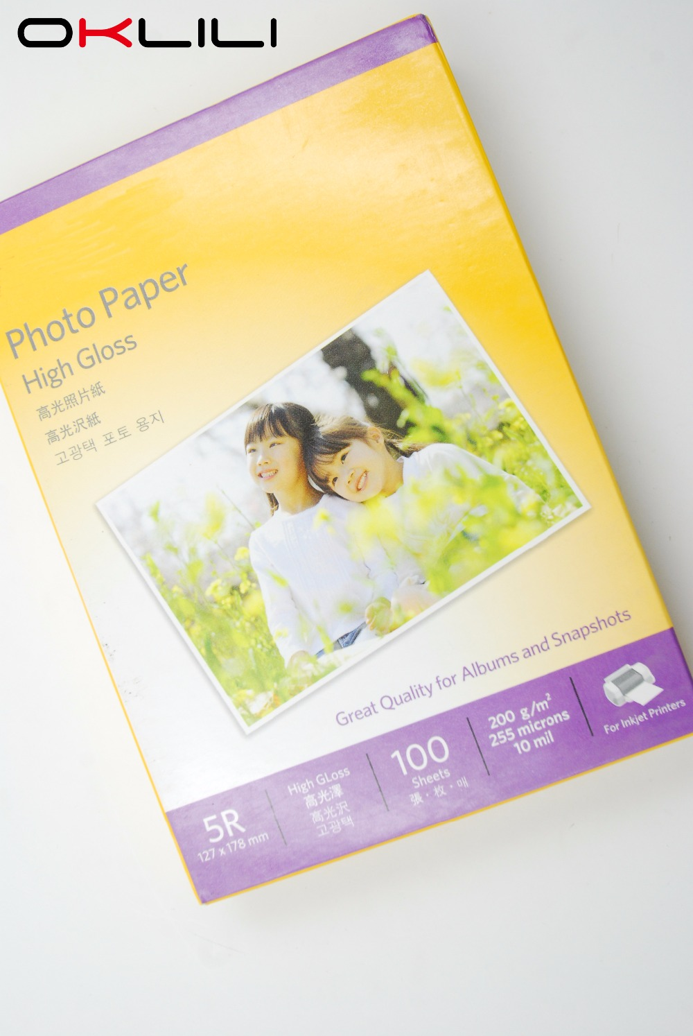 ORIGINAL NEW for Kodak 5R x 100 High Gloss glossy Photo Paper 127 x 178 mm 100 sheets 200g 255 microns 10 mil for Inkjet Printer