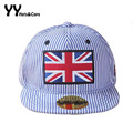 Fashion Cotton Baseball Caps For Children Retro Striped Hats Kids UK Flag Snapback Cap Boys Summer UV Sunhats Girls Cap YY60265