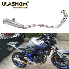 Motorcycle Full System Exhaust Muffler Escape Middle Link Contact Pipe Slip On For Yamaha YZF R3 R25 MT03 MT-03 YZF-R3 2014-2018