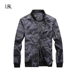 Image 2 - Esercito Giacca Mimetica Uomini Casual Bomber Giubbotti Mens Zipper Outwear Giacca di Autunno della Molla Sottile Cappotto Uomo Più Il Formato 7XL formato