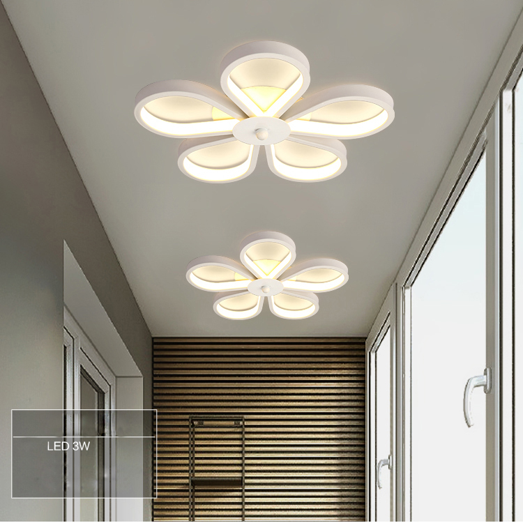 Cheerhuzz Hot Selling New Modern 3W LED Ceiling Lamp Flower Hallway Flush Mounts Light Home Indoor Fixture Lighting Lamps CL375