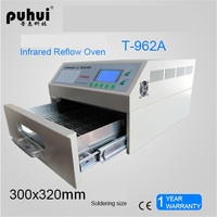 PUHUI T 962A Infrared IC Heater Reflow Oven BGA SMD SMT Rework Sation Reflow Wave Oven 300*320mm 1500W
