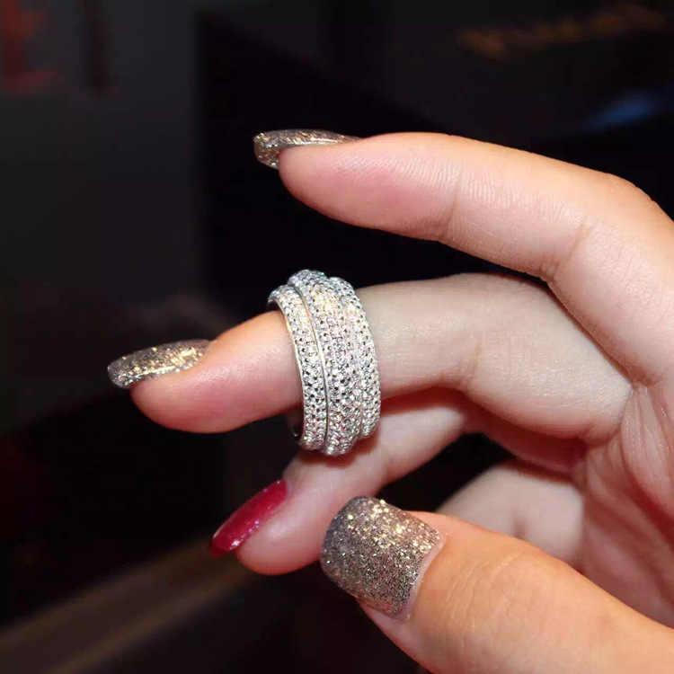 Choucong Wieck Полный проложить AAA кубический цирконий 925 серебро искусственные камни женское кольцо для помолвки кольцо Size5-11