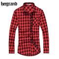 Hee grand 2017 nova moda camisas dos homens clássico casual xadrez camisa de manga longa camisas a cuadros mcl1555