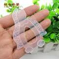 1pc Hotsale Glister Baby Kid Infant Safety Teeth Stick Teether Silicone Teether Penguin Shape