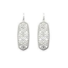Wholesale Brand KS Gold Filigree Hexagon Earrings for Women Fashion Rose Gold Oval Hook Earrings Jewelry 2017