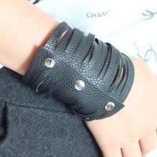 2019 Leather Bracelet For Women Punk Style Fashion Luxury Jewelry Black Bracelets Wholesale