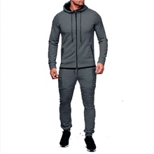 ZOGGA hot selling Men's Outdoor Sportswear Suit, Pure Cardigan, Hooded Sweater with Casual Sports Pants 6 colors