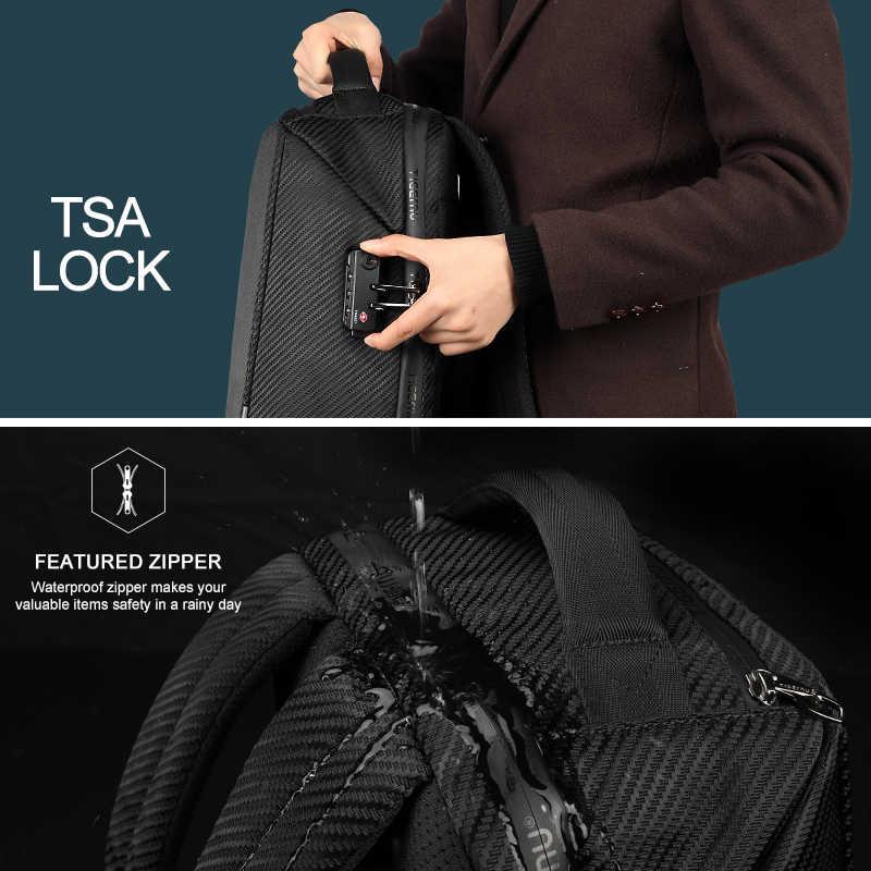 Tigernu RFID 15.6 inç Laptop sırt çantası TSA kilit Anti hırsızlık Splashproof iş erkek sırt çantaları erkek gençler Mochila erkek