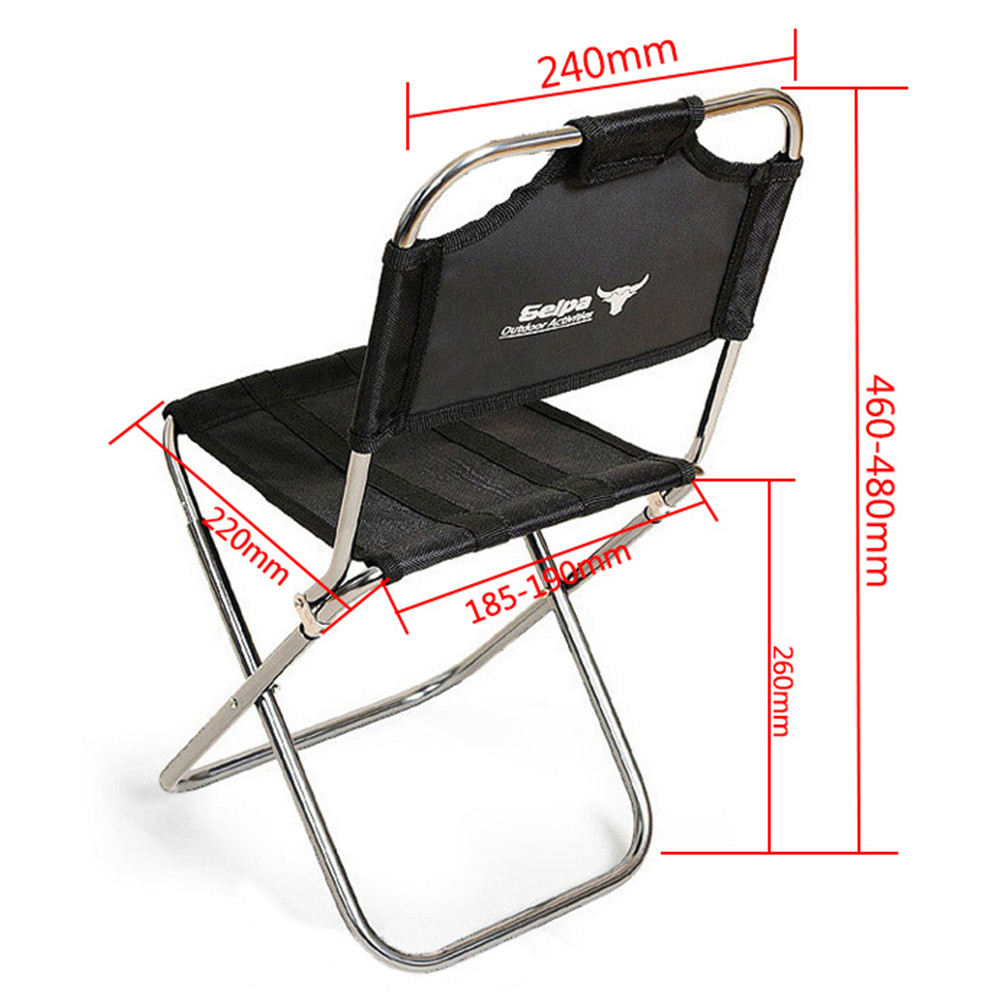 Aluminum Folding Chair Aluminum Folding Chair Outdoor Fishing Camping Picnic Climbing Stool Cloth Bag Package With Backrest Camping And Cherry Blossom