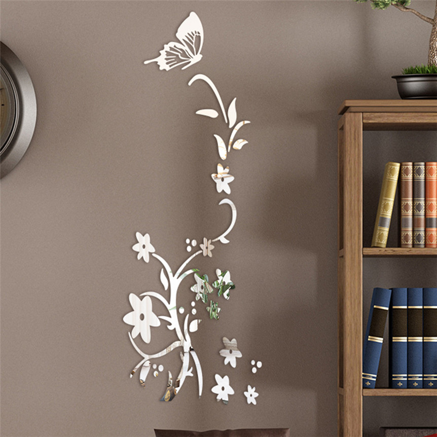 Aliexpress.com : Buy 3D Diy Flower Butterfly Shape Wall ...