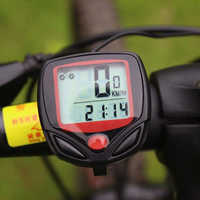 Waterproof Bicycle Computer with LCD Digital Display Bike Odometer Speedometer Cycling Wired Stopwatch Riding Accessories Tool