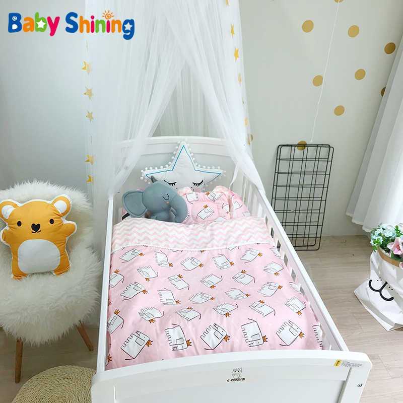Baby Shining Baby Crib Children Bed Baby Cot Carton 88*55*22cm(35*22*9in) 3PCS/Set Thickening Baby Beddings for Infant Room