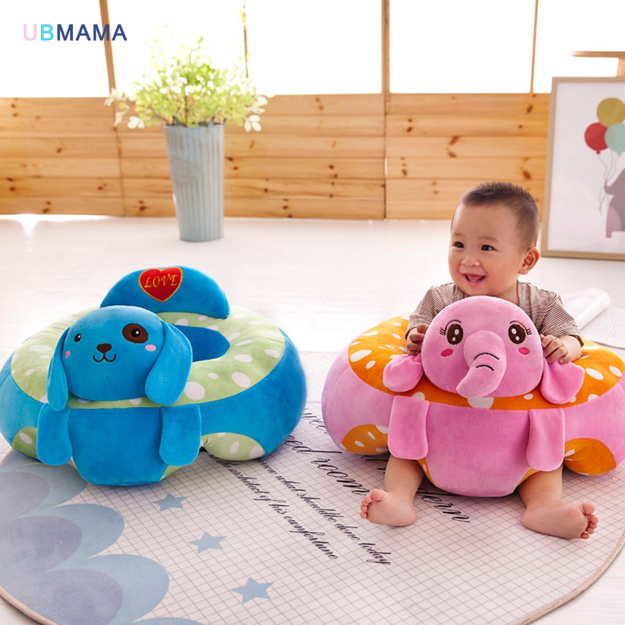 купить Cartoon animal baby Support Seat Sofa Baby Learning To Sit Chair Comfortable Travel Car Seat Pillow Cushion Plush Toys по цене 2146 рублей