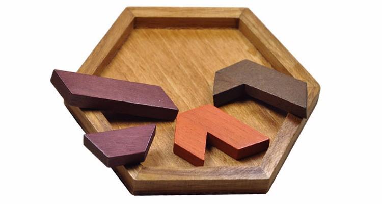 Kids Puzzles Wooden Toys Tangram/Jigsaw Board Wood Geometric Shape P Children Educational Toys 13