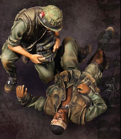 1/35 Resin Kits Vietnam War US Army Team Soldier 2pcs/set