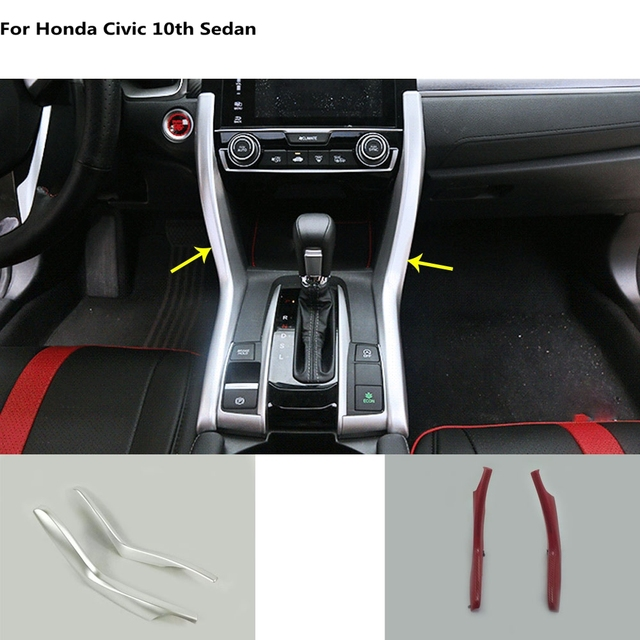 Car Cover Accessories Interior Middle Front Shift Stall Paddle Cup Lamp Trim Hoods For Honda Civic 10th Sedan 2016 2017 2018