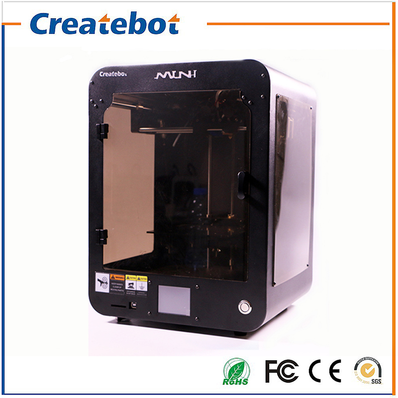 Createbot Mini 3D Printer Kit Touch Screen Display Dual Extruder Hotbed Full Metal Enclosed Design 150*150*220mm Printing Area createbot black full metal fdm 3d modeling printer