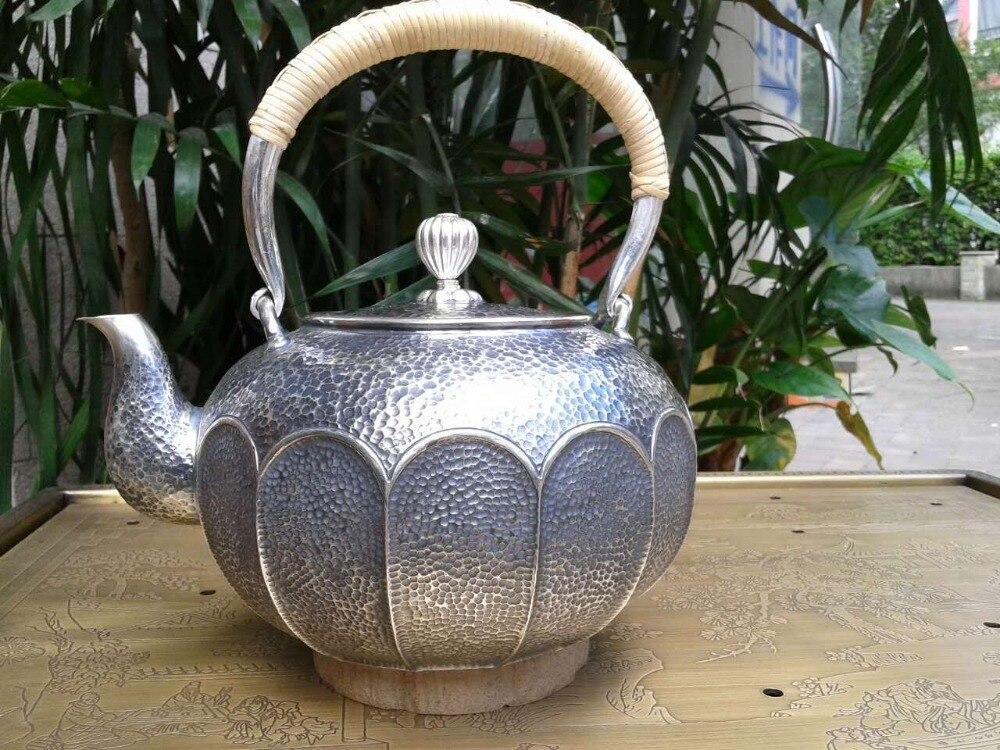 Смягчения воды стерлингового серебра 900 г лотоса чайник 1.4l руководство свист Чайники с подарочной коробке