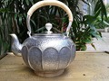 Soften Water Sterling Silver 900G Lotus Kettle 1.4L Manual Whistling Water Kettles With Gift Box