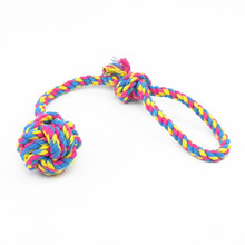 1PC Puppy Dog Pet Chew Knot Toy Cotton Braided Bone Rope Teeth Clean Tug Treats Tool AA pet dog puppy chew tug teeth cleaning knot toy tennis ball w rope