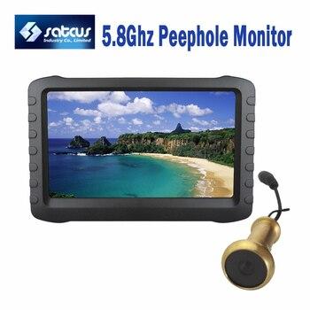 5.8G Wireless Digital Door Viewer HD Camera Intercom Recorder with 5 Monitor Mini DVR Motion Detection SD card 32GB door wireless with monitor