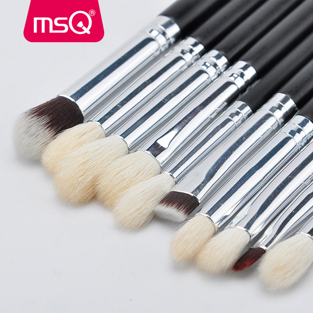 MSQ 15pcs Pro Makeup Brushes Set Powder Blusher Eyeshadow Blending Make Up Brushes High Quality PU Leather Case 1