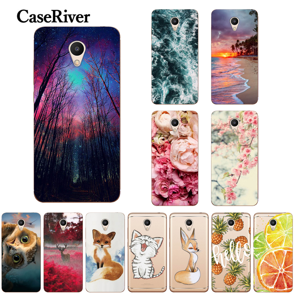 Caseriver Cover Painted-Phone-Back-Cover Soft Silicone Meizu M6S TPU