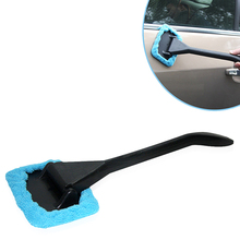 Long Handle Car Wash Brush Microfiber Auto Window Cleaner Car Care Windshield Shine Towel Handy Washable Car Cleaning Tool