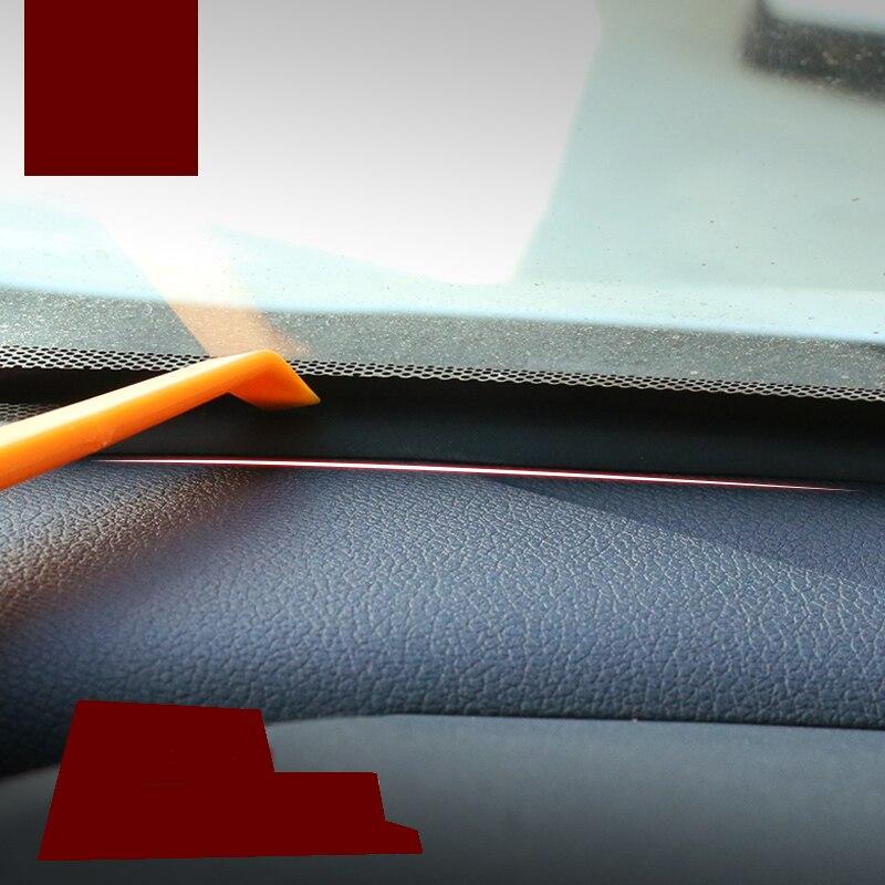 lsrtw2017 car front window sound insulation strip for citroen c2 c3 c4 c5 aircross picasso berlingo ds4 ds5 ds6