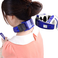 Electric Neck Massager Meridian Therapy Massage Neck Care Far Infrared Heating Warmer Pain Relief Body Neck