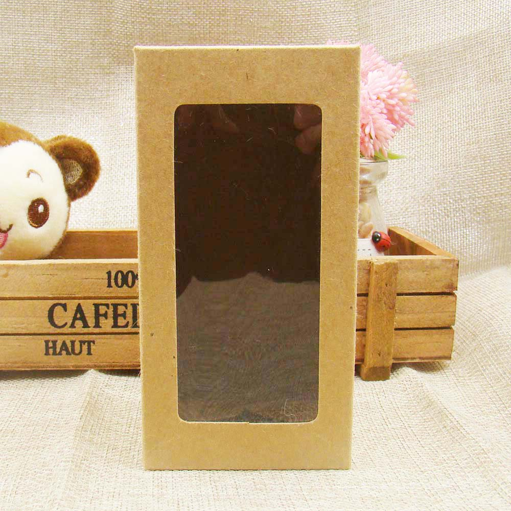 7*7*14cm Popular Kraft Paper Window Boxes Packaging