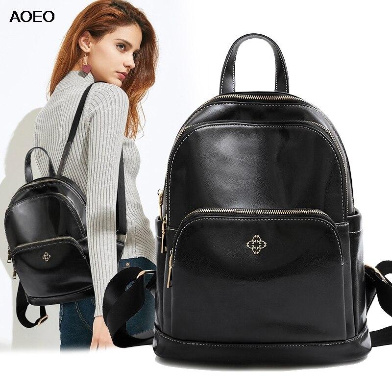 AOEO sacs à dos femmes petit coréen multifonctionnel sac à dos collège école sacs à dos pour filles Split cuir femme sac à dos