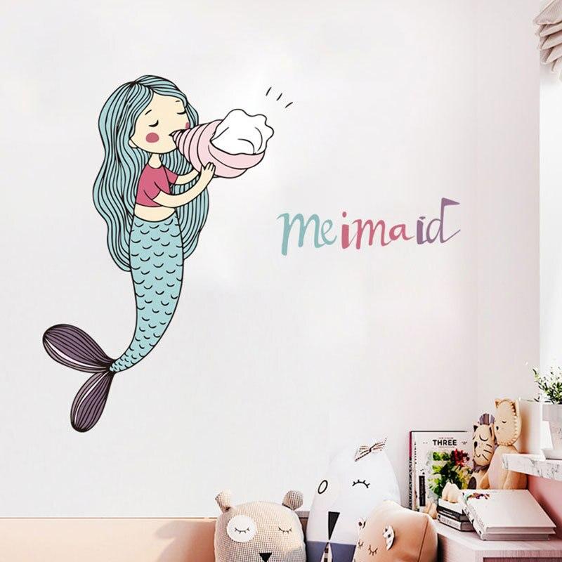 ufengke Stickers Muraux Effet 3D Requin Autocollants Mural Poisson sous la Mer pour Chambre Enfants Gar/çon B/éb/é P/épini/ère Salon D/écoration Murale