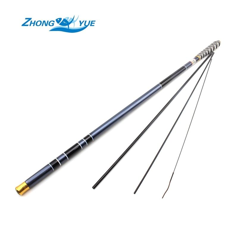 Free shipping Carp Fishing Pole Stream Hand Rod Telescopic Fishing Rod Carbon Fishing Tackle 3.6 4.5 5.4 6.3 7.2M Lowest profit
